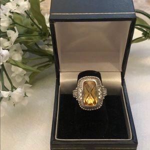 New Judith Ripka Citrine Diamonique Ring